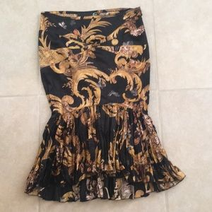 Just Cavalli Black Print skirt sz 38 Made in Italy
